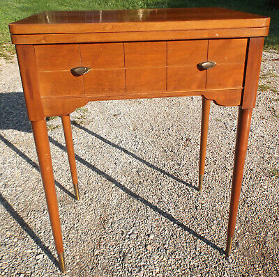 Vintage 1950's Singer 66 Sewing Machine Cabinet/Stand Walnut Fits Others