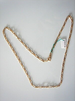 Very Beautiful Chain Gold Plated Long 50 cm 7 Grs Vintage New / New Old Chain