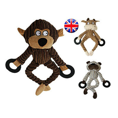 UK New Chew Toy Animal Shape Pet Dog Cat Puppy Squeaker Squeaky Plush Sound Toys