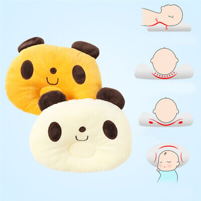 Newborn Baby Infant Cotton Pillow Positioner Prevent Flat Head Anti Roll LA