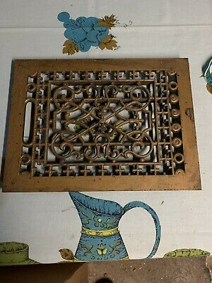 Antique Cast Iron Floor Grate Heating Vent Register