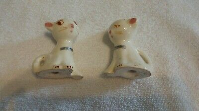 Vintage SALT AND PEPPER SHAKERS ceramic Siamese kittens cats collectible antique