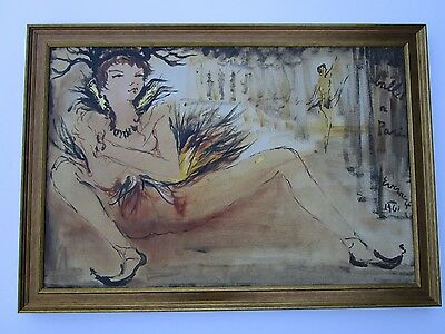 Large Finest Etienne 1960'S Painting Abstract Expressionism  Figures Modernist