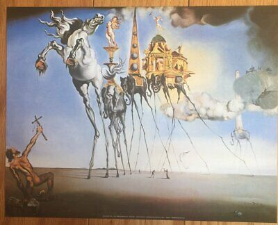Salvador Dali The Temptation Of St. Anthony Poster 11 x 14
