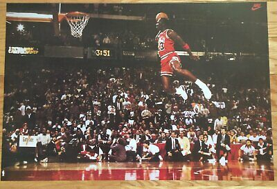 Michael Jordan Slam Dunk Contest Free Throw Line Poster  23 x 35