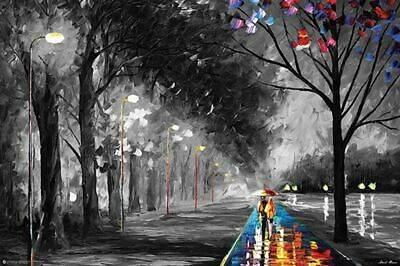 Alley By The Lake by Leonid Afremov Art Poster 24 X 36