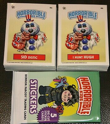 Horrorible Kids 4 Like Garbage Pail Kids Complete Set 90 Cards A/B Horror Poster