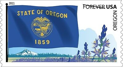 US 4316 Flags of our Nation Oregon forever coil single MNH 2011