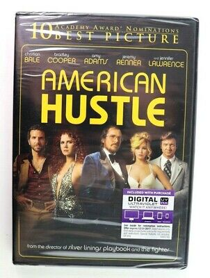 American Hustle (DVD, 2014) Christian Bale, Amy Adams, Bradley Cooper New