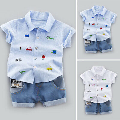 Summer Toddler Baby Kids Clothes Boys Outfits Sets T-Shirt Tops + Short Pants