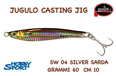 ARTIFICIALE JUGULO CASTING JIG 93 MX HOLO SHAD MOLIX 60 GR LURE PESCA SPINNING