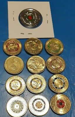 2018 $2 30th Anniversary Coin Set - Empty Folder With Capsules +$2x12 COINS+NZ