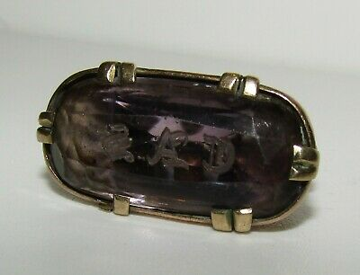 Large, Antique Georgian Ca. 1780 9 Ct Gold Watch Fob Pendant / Natural Amethyst