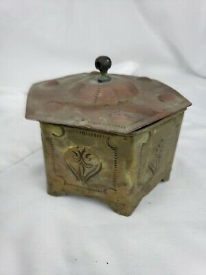 Vintage / Antique middle-eastern metal brass box ca. 1920s