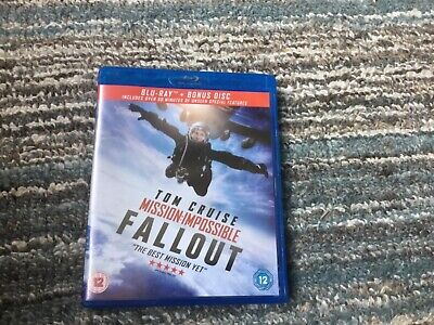 MISSION IMPOSSIBLE- FALLOUT Blu-Ray with Bonus Disc       MINT