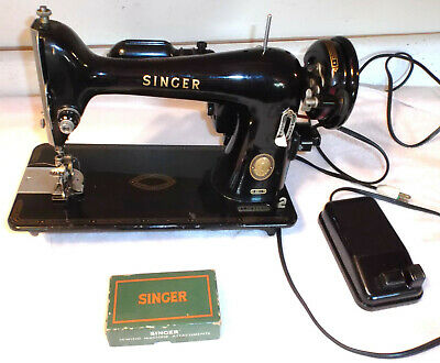 Singer Model 66 Sewing Machine Vintage 1955 with Attachments