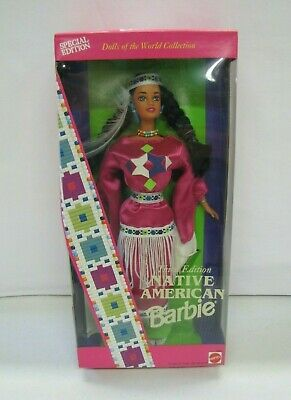 NEW 1994 Dolls of the World NATIVE AMERICAN BARBIE INDIAN DRESS 3rd Edition NRFB