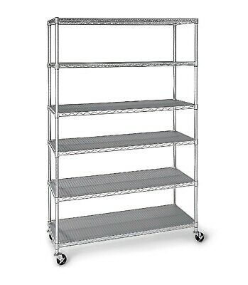 Astonishing 5 Tier Shelves Commercial Shelving With Wheels Garage Metal Download Free Architecture Designs Viewormadebymaigaardcom