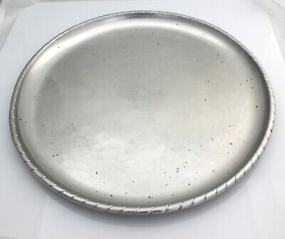 Keswick School Industrial Arts KSIA Firth Staybrite Round Hammered Tray