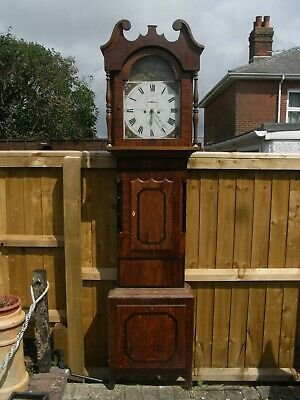 19th Century 8-Day Grandfather Clock / William Cordingley Leeds / Longcase