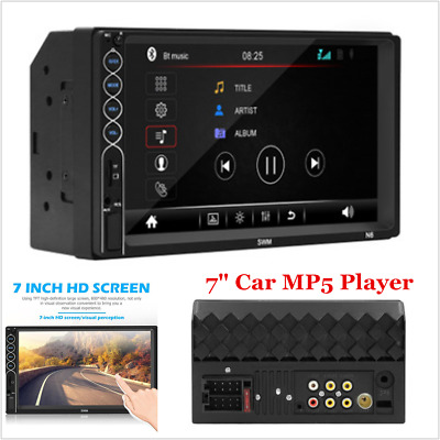"""7"""" 12V 2Din Touch Screen Car MP5 Player Bluetooth Stereo FM Radio USB/TF AUX In"""