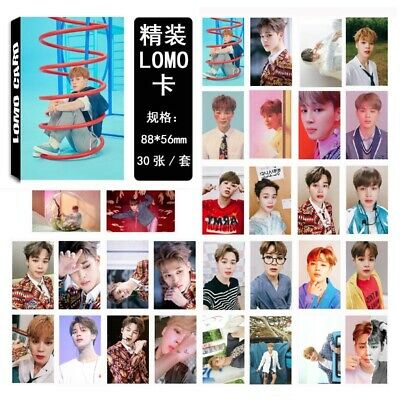 Kpop BTS Lomo Card Bangtan Boys JIMIN Personal Photo Lomo Card Photocard 30pc