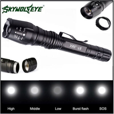 Zoombare 12000LM 5Modes Cree Xml T6 Led 18650 Zoom Taschenlampe Fackel Lampe