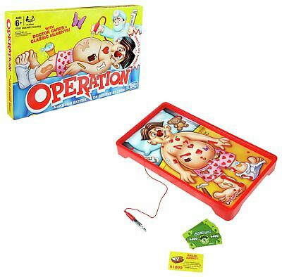 Classic Operation Board Game from Hasbro Gaming - 1+ Players.