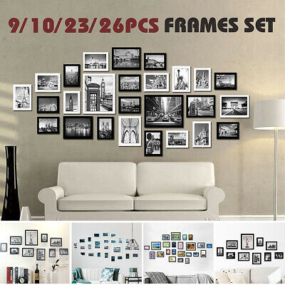 23/26Pcs Large Multi Photo Frames Set Picture Collage Wall Art Gift Decor