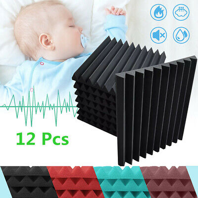 New 48Pcs Acoustic Sound Proofing Foam Wall Panels Studio Wedge Treatments