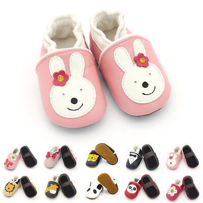New Baby Boy Girls Toddler Winter Warmer Shoes Soft Leather Slippers 0-24 Months
