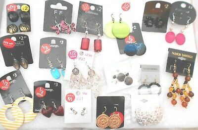 Job Lot 10 pairs of ex High Street earrings - Pot Luck - Bargain