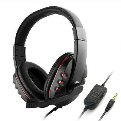 Gaming Headset Headphone + Microphone Volume Control For Sony PS4 PlayStation 4!