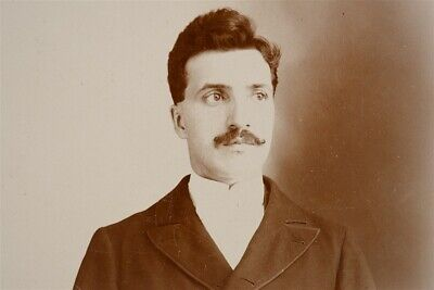Antique c. 1888 Cabinet Card Photograph 25 Year Old Man from Putnam, CT