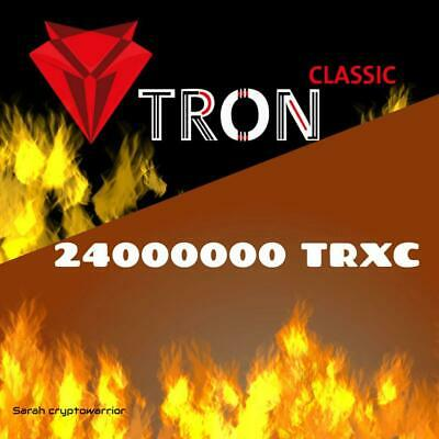 24000000 TronClassic (TRXC) CRYPTO MINING-CONTRACT (2M TRXC), Crypto Currency