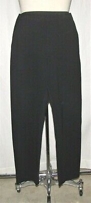 "Margaret O'Leary Black Stretch Double Knit Ankle Cropped ""Greta"" Trouser Pants M"