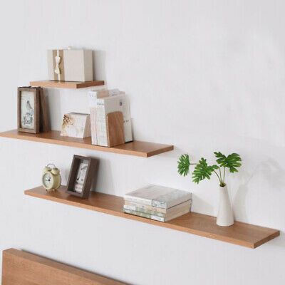 Modern Floating Wall Shelves Mount Shelf Wall Display Storage Oak Book Unit