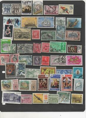 British Commonwealth collection of 50 used stamps all different (BC 2)