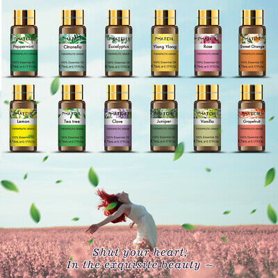 100% Pure Natural Aromatherapy Essential Oil 5ml Aroma Therapeutic Grade Gift Y