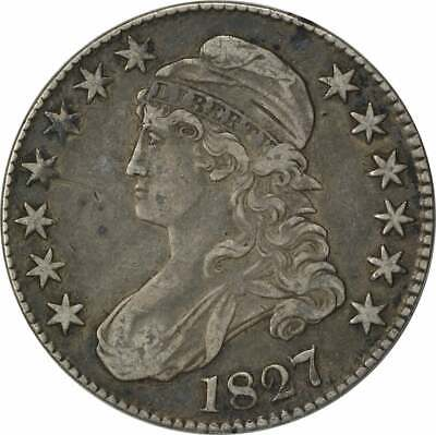 1827 Bust Half Dollar, Square Base 2, EF, Uncertified