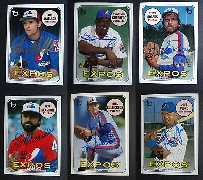 2019 Topps Archives 50th Anniversary Montreal Expos Auto Autograph Card U Pick