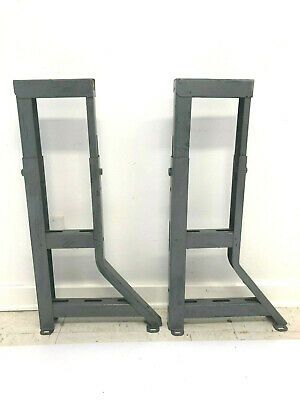 Vintage Steel Work Bench Legs Table Base Pair Metal