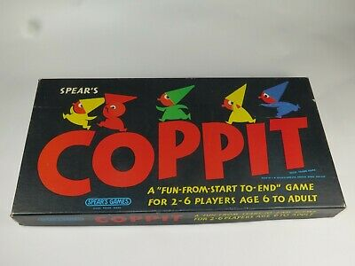"""REPLACEMENT SPARE PLAYING PARTS Vintage Spear's Games """"COPPIT"""" 1960s"""