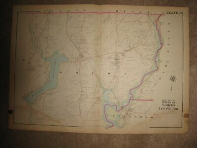 Huge Antique 1911 Somers Lewisboro Croton Falls Westchester County New York Map