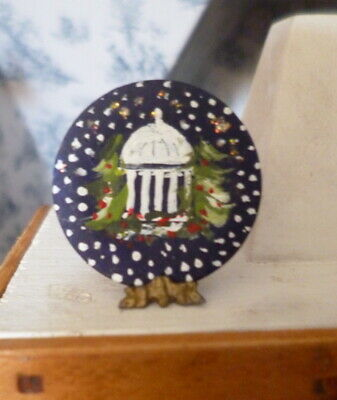 Vintage Artist Made DISPLAY PLATE 1:12 Dollhouse Miniature From Museum