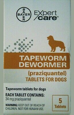 Bayer Expert Care Tapeworm Dewormer 5 Tablets For Dogs - Exp 2021