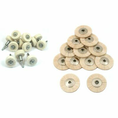 "Polishing Wheels 12 Felt,Soft Hair Wheel Brushes 1""12PcsKit"