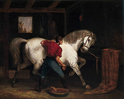 """oil painting handpainted on canvas """"Governor Sprague's White Horse """" NO7928"""