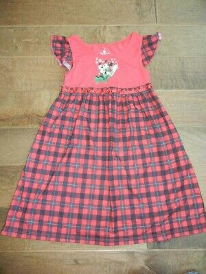 DISNEY PARKS girls red Mickey Minnie mouse dress gown Winter holidays, 8
