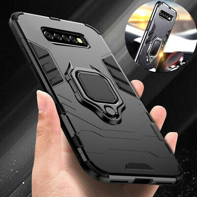 Rugged Armor Case for Samsung Galaxy Note10 N9 S9 S10 Plus Magnetic Ring Holder